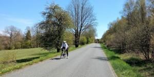 Kaum Verkehr, geniale Landschaft - so macht Rennradfahren Spaß!